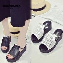 Solid Color Womens Summer Shoes Classic Fashionable Female Flipflops Fashion Platform
