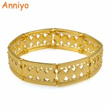 Anniyo Elasticity Bracelets for Women Fashion Spring Bangles Womens African Arab Jewelry #077706(China)