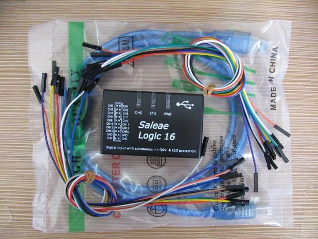 Logic16 Mini USB logic analyzer 100 m freqüência máxima, 16-channel versão 1.1.19 para 1.1.34 software de suporte