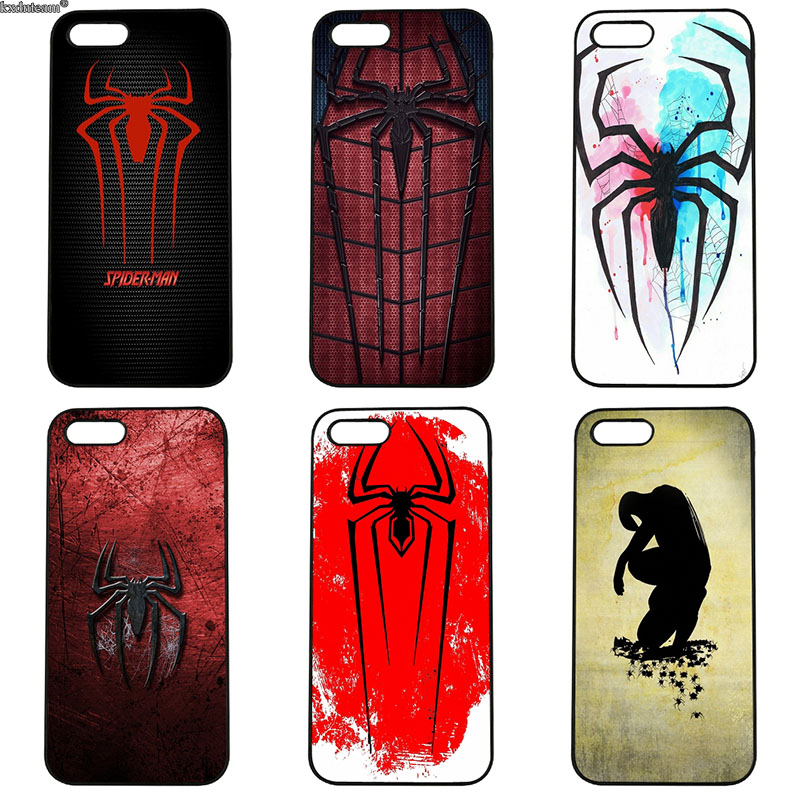 Fashion Spiderman Logo Art Cell Phone Cases Hard Plastic Cover for iphone 8 7 6 6S Plus X 5S 5C 5 SE 4 4S iPod Touch 4 5 6 Shell