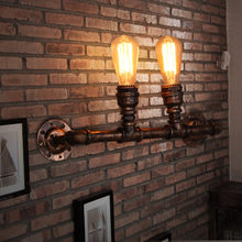 Nordic Loft Style Industrial Water Pipe Lamp Vintage Wall Light For Home Antique Bedside Edison Wall Sconce Indoor Lighting(China)