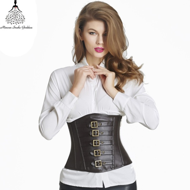 Leather  corset waist trainer hot shapers bustiers waist train corset corset Sexy Lingerie steampunk corset gothic clothing