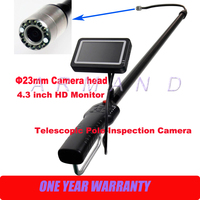 Carbon Fiber Light Weight Telescopic Pole Inspection Camera 23mm cameras Industrial boroscope