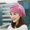 Quality 2016 New High Quality  Winter Hats for Women Casual Skullies Beanies Solid Girl's cotton Cap Mom Hat Warm Double Inside