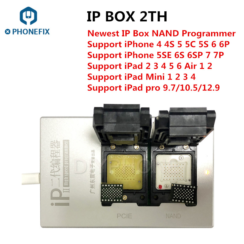 PHONEFIX IP Box 2th Newest IP BOX V2 High Speed NAND Programmer SN Read Write Tool