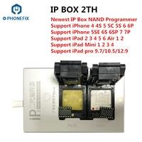 Caixa ip phonefix 2th mais novo v2 de alta velocidade nand programador sn ler escrever ferramenta para o iphone 4S 5 5S 6 p 6 s 6sp 7 7 p todo o ipad Conj. ferramentas elétricas     -