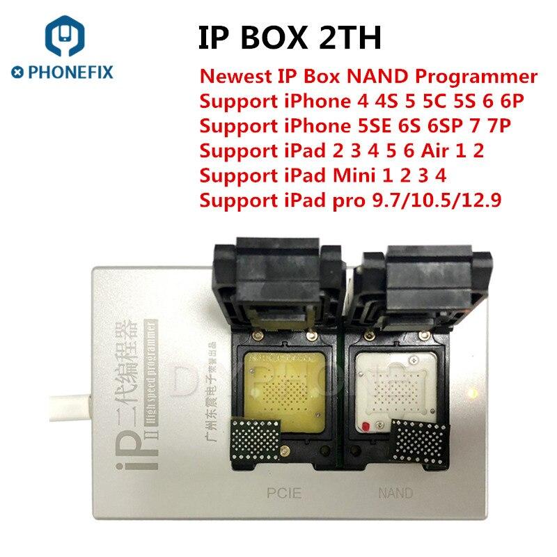 PHONEFIX Box IP 2th Più Nuovo BOX IP V2 Ad Alta Velocità NAND Programmatore SN di Lettura e Scrittura Strumento per il iphone 4 4S 5 5 S 6 6 P 6 S 6SP 7 7 P Tutti I iPad