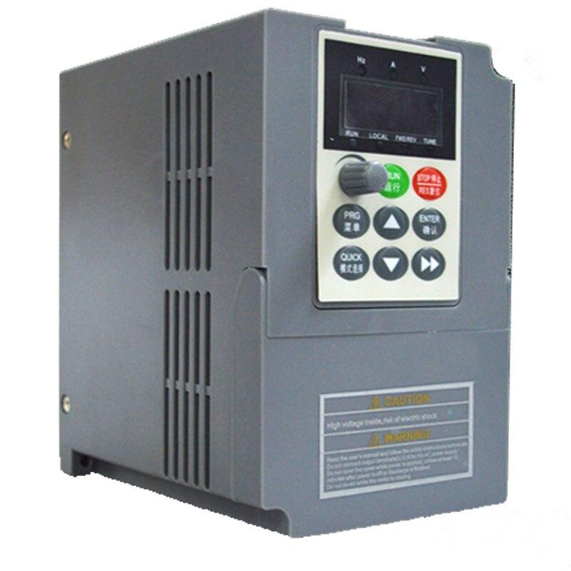 New 1.5Kw VFD Input 1Ph 220V Output 3Ph 0-220v 400Hz 10A Frequency converter Overloaded Vector VFD Matching Lathe Motor fvr3 7s1s 4c vfd inverter fvr micro input 3ph 380v output 3ph 380 460v 8 2a 1 400hz 3 7kw with keypad new