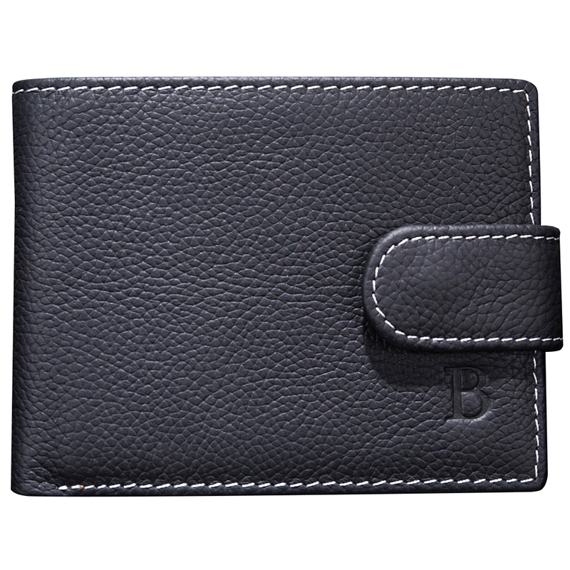 Genuine Leather Men's Short Wallet Money Bag Driver License Wallet Lichee Pattern Coins Purse Hasp Bifold Walet Male Carteira
