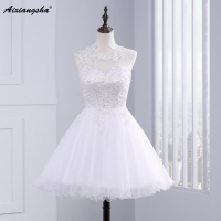 Sweet 15 Year Sheer White Short Homecoming Dresses Sexy Backless Ball Gown Appliques 8th Graduation Dress