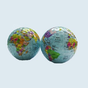 Image 2 - New Arrival Golf balls Globe Map Color Golf Balls 2pcs/lot Practice Golf Gift Balls With World Map Unique Geographic Golf Balls