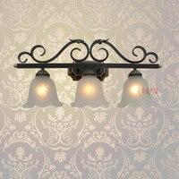 A1 Континентальный бра черный гладить лампы специальный ночной спальня ламп зеркала B3 2 Творческий сад m