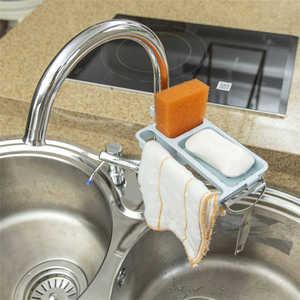 Image 3 - Bếp có Giá Để Đồ Khăn Xà Bông Giá Đỡ Bếp Phòng Tắm Bồn Rửa Món Ăn Bọt Biển Xả Kho Giá Đỡ Giá Áo Dây Móc Hút