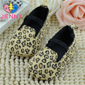 JENNY kids! Newborn baby cloth first walkers infant children shallow soft solesnon-slip leopard shoes for 0-1 years baby girls