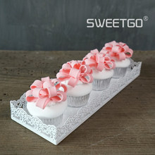 White Metal Cake Tray Cupcake Stands Baking Tools Home Party Decoration Birthday Food Wine Holder