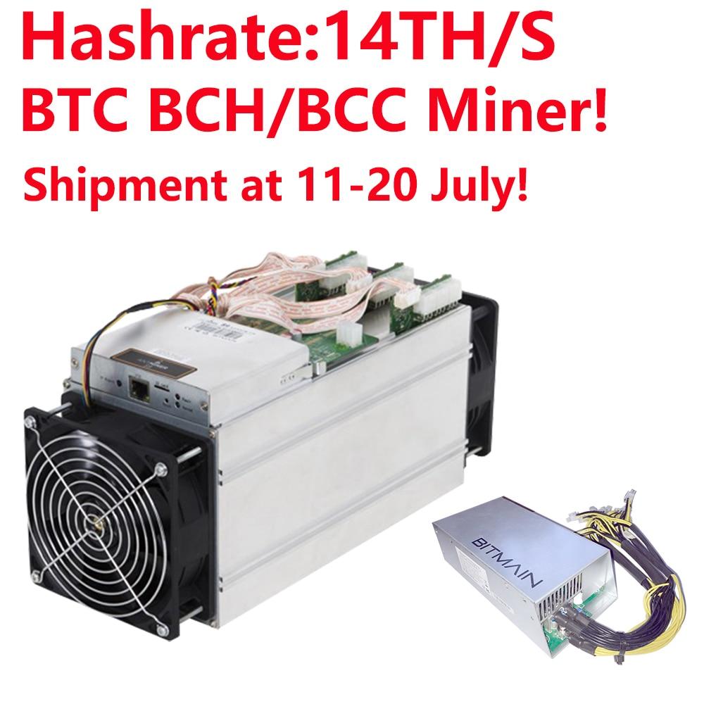 Versand zu 1-20th Juli! BTC BCH/BCC Miner! Bitmain Antminer S9i-14.0 Bitcoin Miner 14TH/S Asic Miner 16nm Btc Miner mit APW3 + +