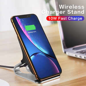 Image 5 - 10W Qi Wireless Charger For iPhone Xs Max Xr X for Samsung S10 S9 Intelligent Infrared Fast Wirless Charging Car Phone Holder