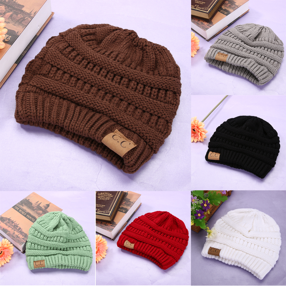 2017 Brand Beanies Knit Winter Hats For Men Women Beanie Men's Winter Hat Caps Outdoor Ski Sports Warm Baggy Cap hot winter beanie knit crochet ski hat plicate baggy oversized slouch unisex cap