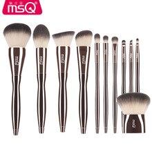 New Professional MSQ 11pcs Diamond Handle Makeup Brushes Set Powder Eyeshadow Fo