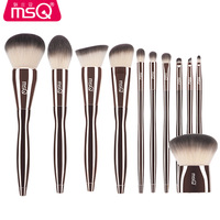 New Professional MSQ 11pcs Diamond Handle Makeup Brushes Set Powder Eyeshadow Foundation Make Up Brushes Cosmetic Makeup Tool