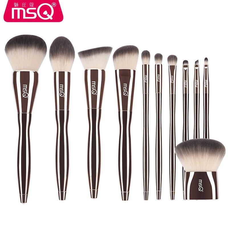 Nouveau Professionnel MSQ 11 pcs Diamant Poignée Maquillage Pinceaux Poudre Fard À Paupières Fondation Pinceaux de Maquillage Cosmétique Maquillage Outil
