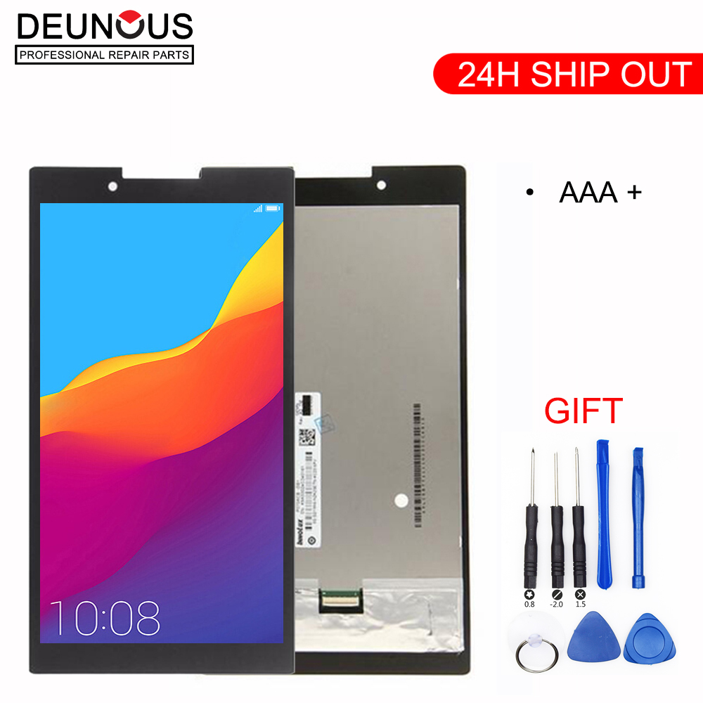 New 7'' inch Full LCD Display + Touch Screen Digitizer Glass Assembly For Lenovo Tab 2 A7-30 A7-30HC A7-30DC Tablet Pc Parts new 7 inch full lcd display touch screen digitizer glass assembly for lenovo tab 2 a7 30 a7 30hc a7 30dc tablet pc parts