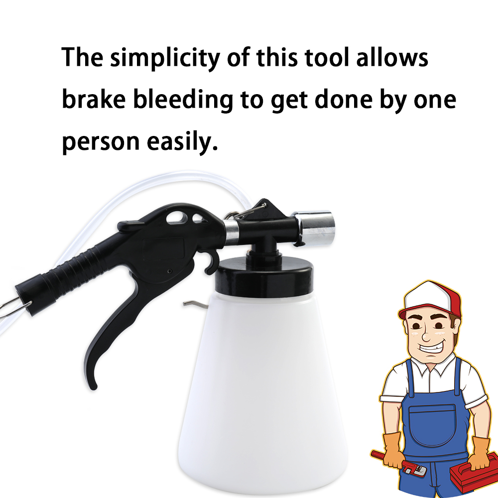 hand tool sets Car Brake Fluid Replacement Equipment Machine Brake Pumping Oil 90-120 PSI Vacuum Type Oiler Tube Fill Bottle Set
