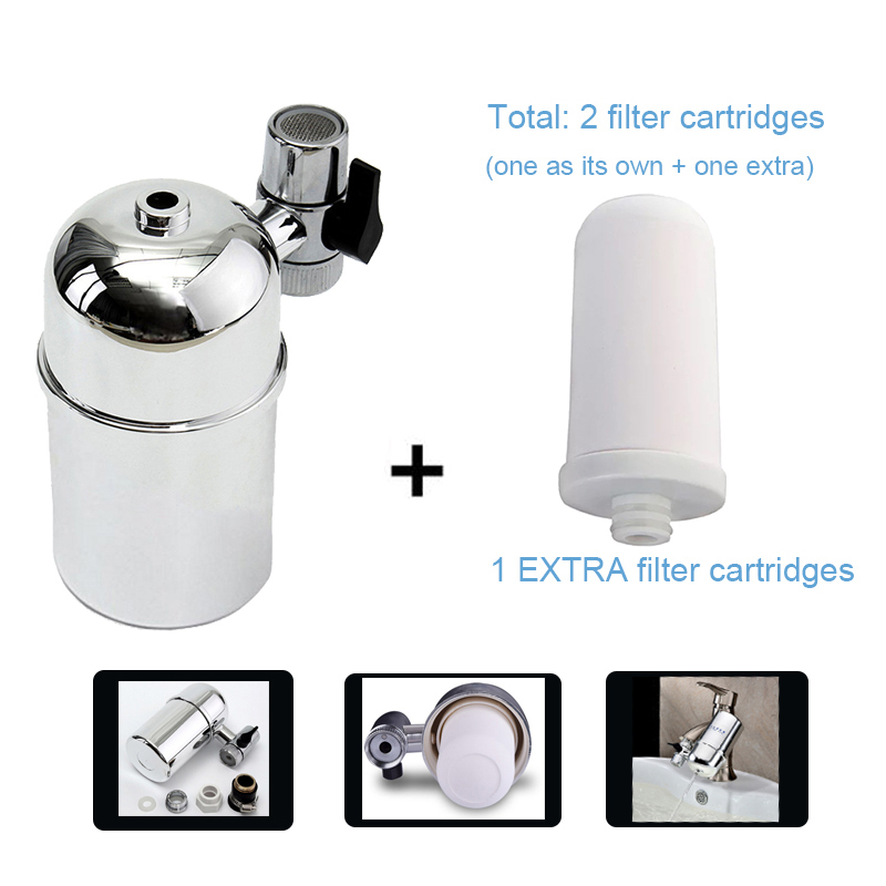 Pack 1+1 Faucet Mounted Tap Water Purifier filtros for clean filtration drinking water filtre eau with 1 EXTRA filter CartridgePack 1+1 Faucet Mounted Tap Water Purifier filtros for clean filtration drinking water filtre eau with 1 EXTRA filter Cartridge