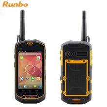 Оригинал Runbo Q5 Водонепроницаемый Телефон Прочный Смартфон Android 5.1 IP67 Противоударный 4 Г LTE MTK6735 Quad Core 2 Г RAM Walkie talkie