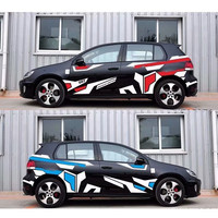 DIY Decoration Creative Car Body Stickers Racing Car Both Sides Decals Wrap Vinyl Film Automobile Goods Car styling Accessories