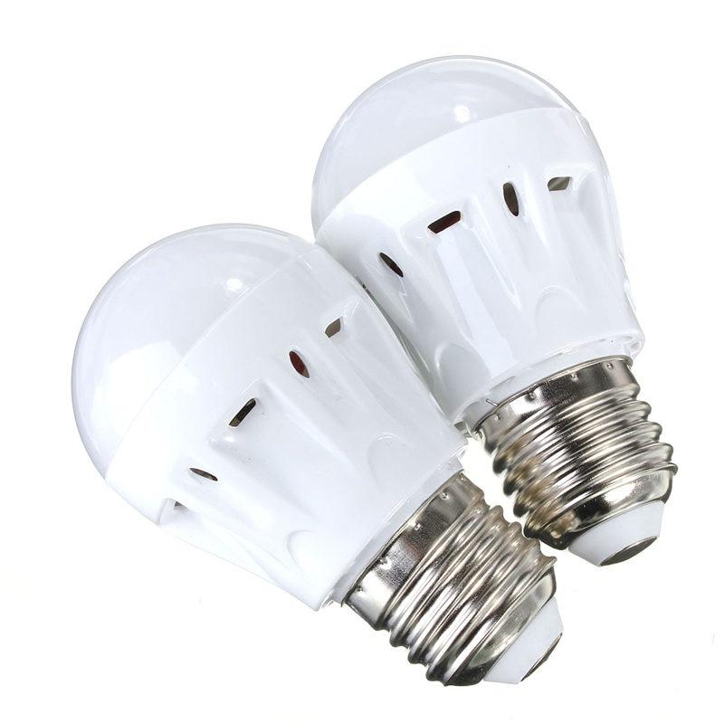 E27 3W/5W/7W Sound Light Control Voice Sensor Detect 27 LED SMD White Warm White Spotlight Light Lamp Bulb 220V