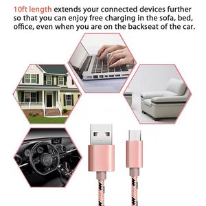 Кабель Micro USB 2 м 3 м для Xiaomi Samsung Galaxy A5 A7 A9 2016 Huawei 8x Mate 10 Lite P10 Lite, кабель для быстрой зарядки и передачи данных