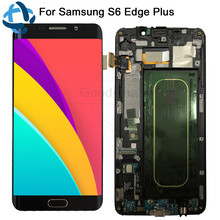 "5.7 ""Voor Samsung Galaxy S6 Rand Plus LCD G928 G928F Display Touch Screen + frame Assembly Vervanging Voor SAMSUNG s6 Rand Plus LCD"