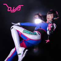 2017 Fantastic D.va Cosplay Suit Faux Leather Fabric With Armour Dva Costume For Hana Song D va Cosplay Suit For Halloween Girl