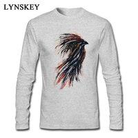 Retro Phoenix Mürekkep Boya Erkekler Için Klasik Komik 3D Baskı T Shirt % 100% Pamuk Slim Fit Moda T-Shirt