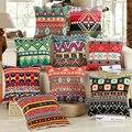 Nova Moda África Fronhas Lençóis de Algodão Do Vintage Geometria Boêmio Fronha Casa Escondido Zip Do Produto Para Uma Vida Melhor