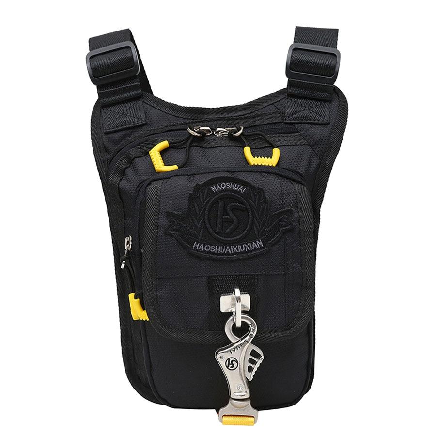 Men's Nylon Waist Leg Drop Bag Thigh Crossbody Shoulder Messenger Bags Purse Pouch High Quality Fashion Hip Bum Belt Fanny Pack