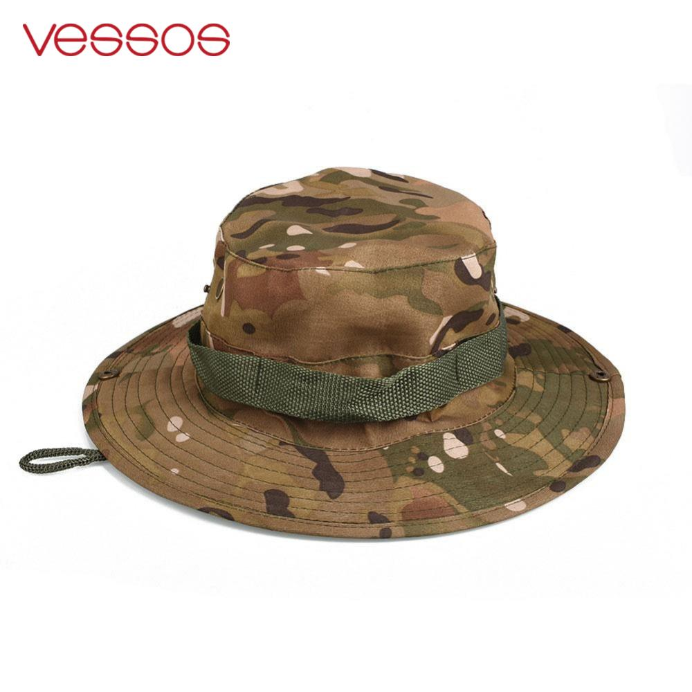 Multi Colors Outdoor Fishing Hunting Camo Boonie Hat Tactical Army Military Bush Sun Fishing Hiking Camouflage Caps