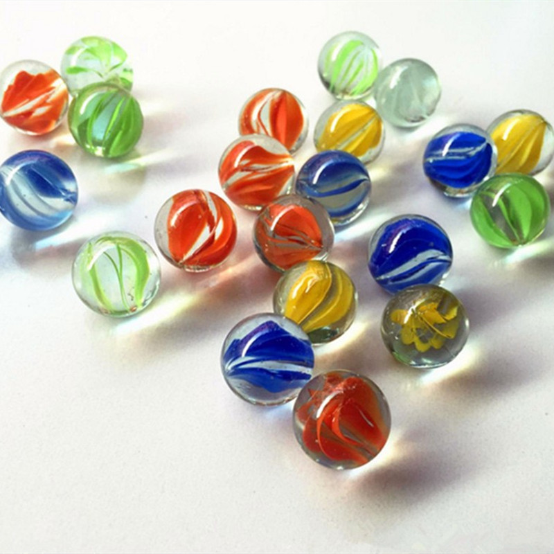 20pcs 14mm Clear Glass Balls Marbles Charms Pinball Machine Vase Aquarium Home Decoration Toys For Kids Grownups