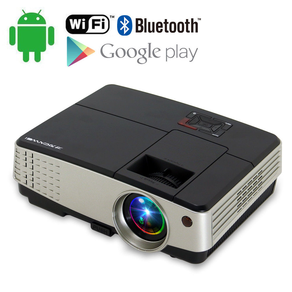 CAIWEI Mini Home Theater Portable Movie TV Projector 1080p LED Full HD HDMI Beamer for font