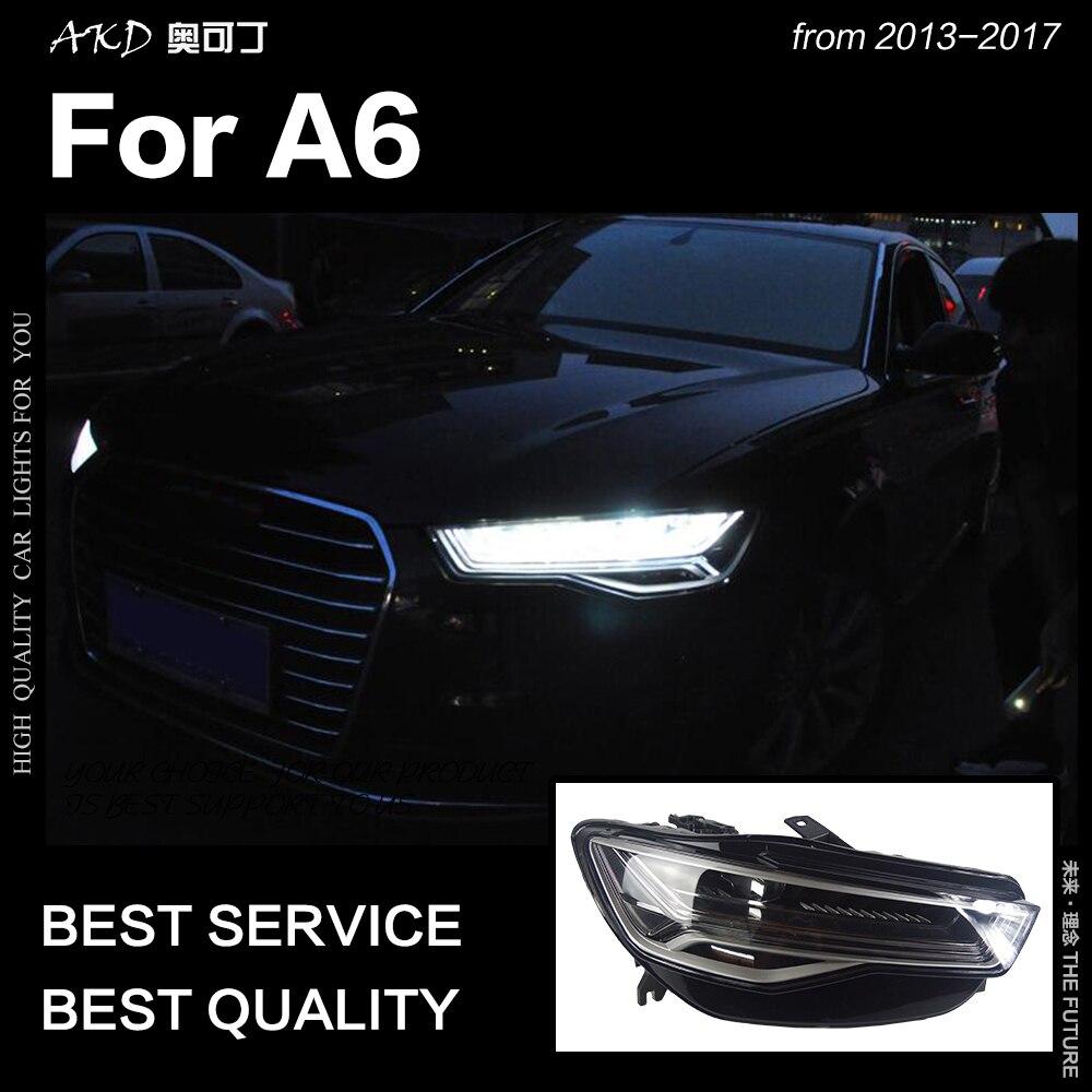 AKD voiture style pour A6 phares 2013-2017 mise à niveau A6L tous les phare LED DRL Hid phare Angel Eye Bi xénon faisceau accessoires - 4