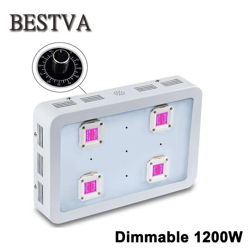 BESTVA Dimmable X4 1200 w LED Élèvent La Lumière COB LED Full Spectrum Intérieur Élèvent des Lumières Pour Plantes Médicinales Veg & fleur à effet de serre