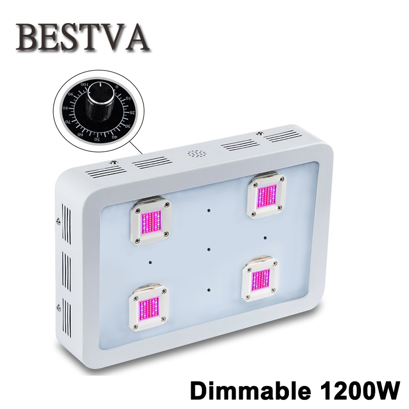 BESTVA Dimmable X4 1200W LED Grow Light COB LED Full Spectrum Indoor Grow Lights For Medicinal Plants Veg&Flower in Greenhouse недорго, оригинальная цена