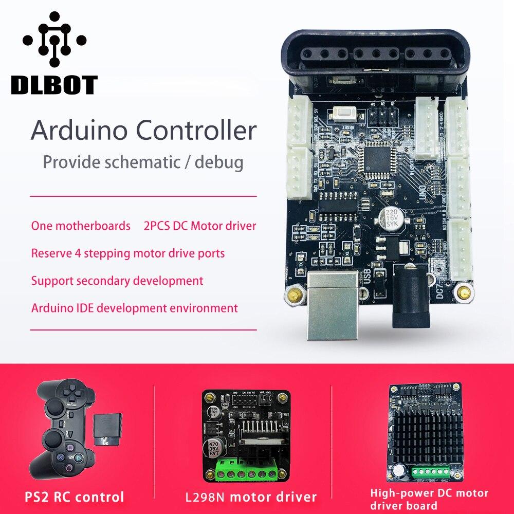Controlador Arduino, controlador de Motor DC, control remoto inalámbrico on brushed motor speed controller, dual motor controller, dc motor controller, arduino bulldozer motor controller,