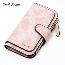 Wallet Brand Coin Purse PU Leather Women Wallet Purse Wallet Female Card Holder Long Lady Clutch purse Carteira Feminina cheap Polyester Standard Wallets 19cm Coin Pocket Interior Compartment Photo Holder Interior Zipper Pocket Note Compartment Cell Phone Pocket Card Holder