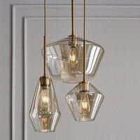Claro Pingente De Vidro Da Lâmpada Da Cozinha Ilha Pendurado Altura Ajustável Luz Sala de estar Lâmpada Do Teto Suspendido Para Quarto Loft|Luzes de pendentes| |  -