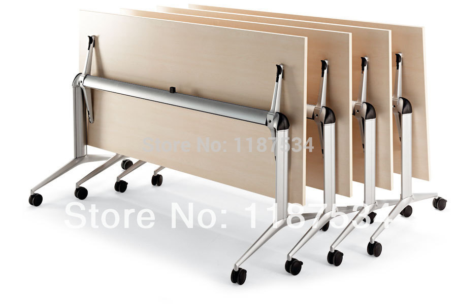 Movable Wooden Foldable Training Table Folding Training Table Desk - Foldable training table