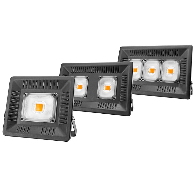Plein spectre lampe LED lumière croissante 50W 100W 150W AC 110V 220V haute puissance extérieure étanche pour serre hydroponique semis