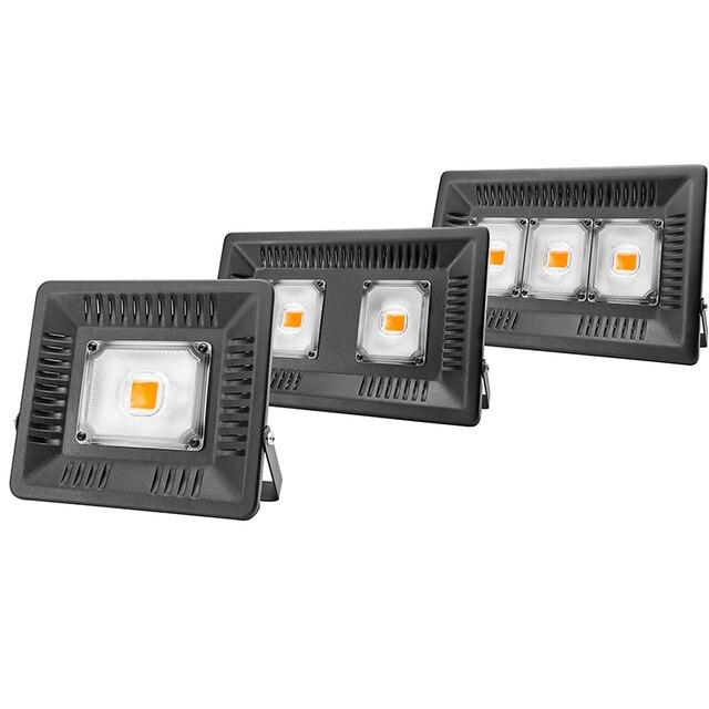Volledige Spectrum Lamp Led Groeilicht 50W 100W 150W Ac 110V 220V High Power Outdoor waterdicht Voor Kas Hydrocultuur Zaaien