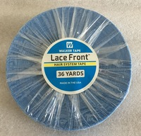 1 roll 36 yards Blue lace front tape hair extension adhesive tape skin weft tape 0.8/1.0/1.27 cm